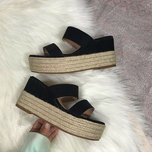 AMS \\ platform espadrille sandals